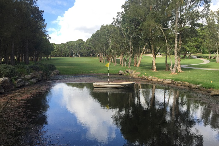 Corporate Golf with Challenging Water Ways