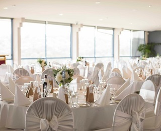 Our Wedding Reception Room Overlooks the Beach