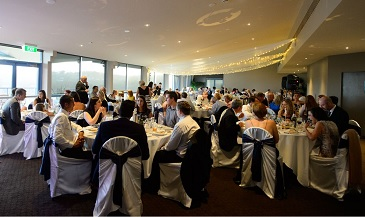 Seating for up to 180 wedding guests at our northern beaches wedding venue
