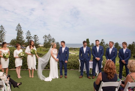 Outside Wedding Ceremony at Mona Vale Golf Club