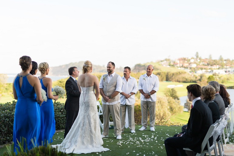 Wedding Ceremony Venue on the grass overlooking the ocean